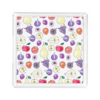 Fruit pattern acrylic tray
