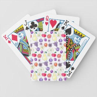 Fruit pattern bicycle playing cards