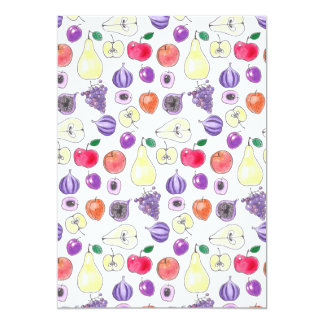 Fruit pattern card