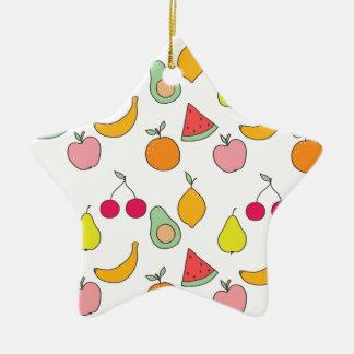 fruit pattern ceramic ornament