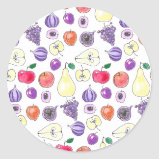 Fruit pattern classic round sticker
