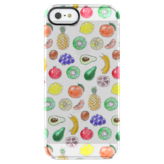 Fruit pattern clear iPhone SE/5/5s case
