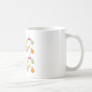 fruit pattern coffee mug