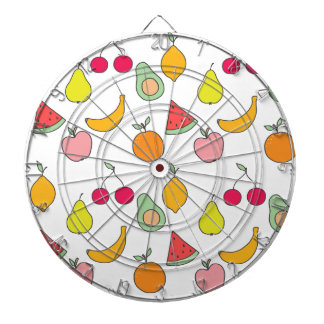 fruit pattern dartboard
