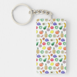 Fruit pattern Double-Sided rectangular acrylic keychain