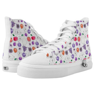 Fruit pattern high tops