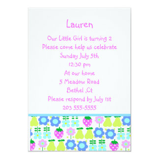fruit pattern invitation