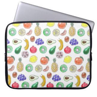 Fruit pattern laptop sleeve