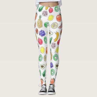 Fruit pattern leggings