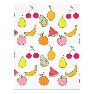 fruit pattern letterhead