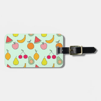 fruit pattern luggage tag