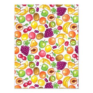 Fruit Pattern Magnetic Invitations