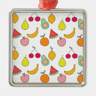 fruit pattern metal ornament