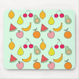 fruit pattern mouse pad