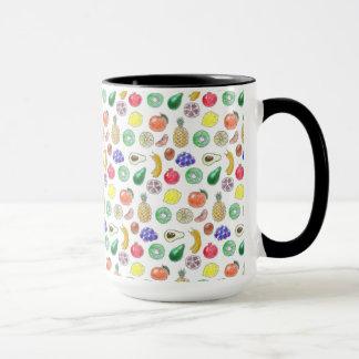 Fruit pattern mug