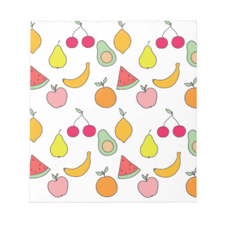 fruit pattern notepad