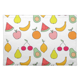 fruit pattern placemat