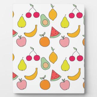 fruit pattern plaque