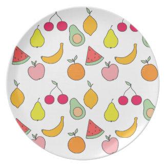 fruit pattern plate
