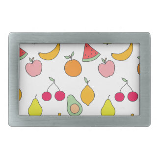 fruit pattern rectangular belt buckle
