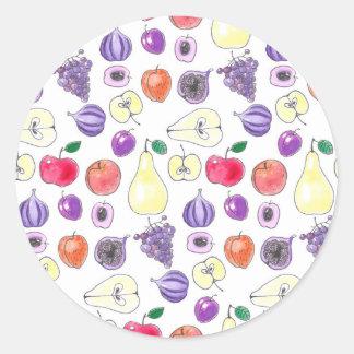 Fruit pattern round sticker