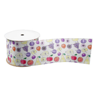 Fruit pattern satin ribbon