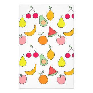 fruit pattern stationery