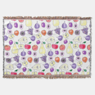 Fruit pattern throw