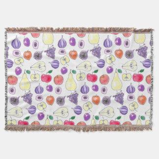 Fruit pattern throw blanket
