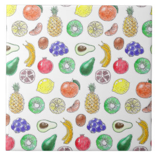 Fruit pattern tile