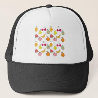 fruit pattern trucker hat