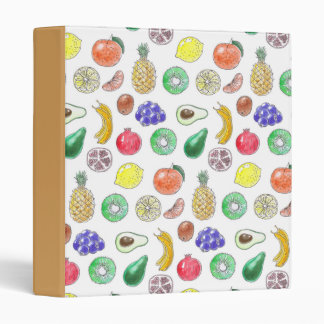 Fruit pattern vinyl binders