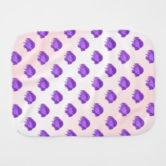 Fruit Patterns Blueberries and Cream Baby Burp Cloths