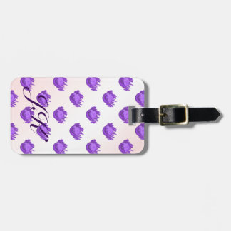 Fruit Patterns Blueberries and Cream Bag Tag