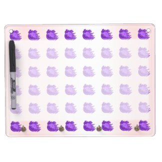 Fruit Patterns Blueberries and Cream Dry Erase Board With Keychain Holder