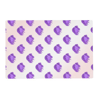 Fruit Patterns Blueberries and Cream Laminated Placemat