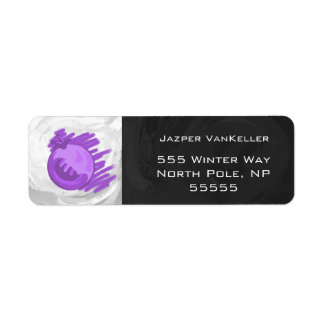 Fruit Patterns Blueberries and Cream Return Address Label