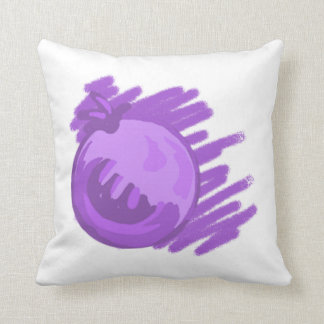 Fruit Patterns Blueberries and Cream Throw Pillow