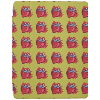 Fruit Patterns Strawberries on gold Electrinics iPad Cover