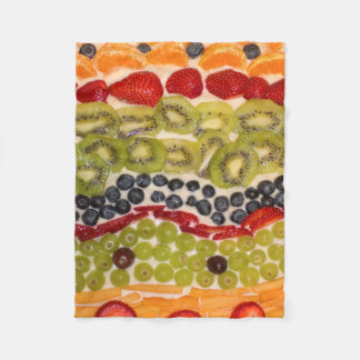 Fruit Pizza Close-Up Photo Fleece Blanket