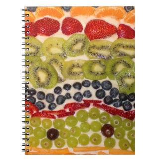 Fruit Pizza Close-Up Photo Notebooks