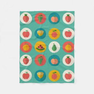Fruit Polkas Fleece Blanket