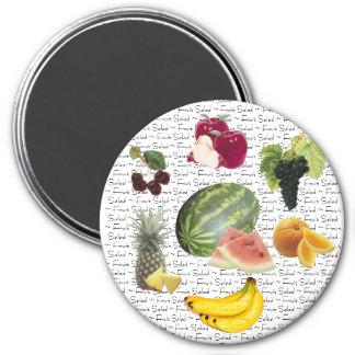 Fruit Salad 3 Inch Round Magnet