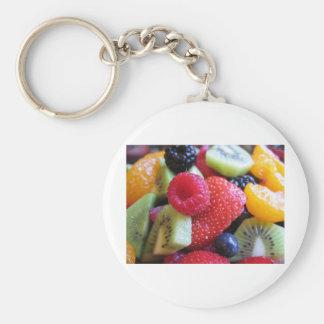 fruit-salad basic round button keychain