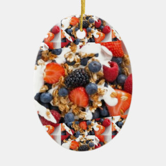 Fruit Salad Foods Chef Healthy Eating Cuisine Art Ceramic Ornament