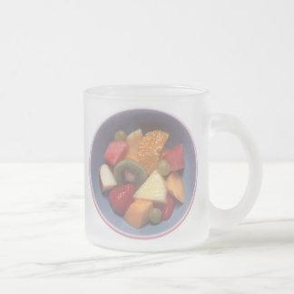 Fruit Salad Frosted Glass Coffee Mug