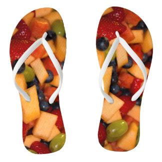 Fruit Salad Photo Flip Flops
