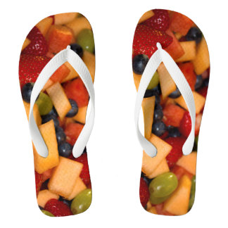 Fruit Salad Photo Flip Flops