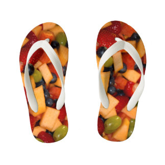 Fruit Salad Photo Kid's Flip Flops