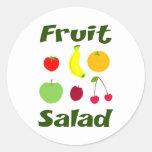 Fruit Salad Round Sticker